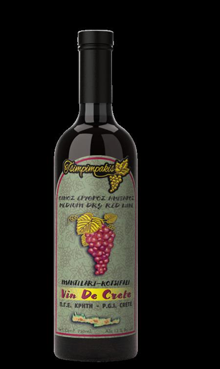 Medium dry red wine