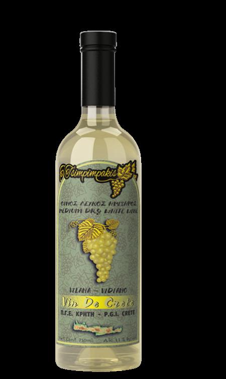 Medium dry white wine
